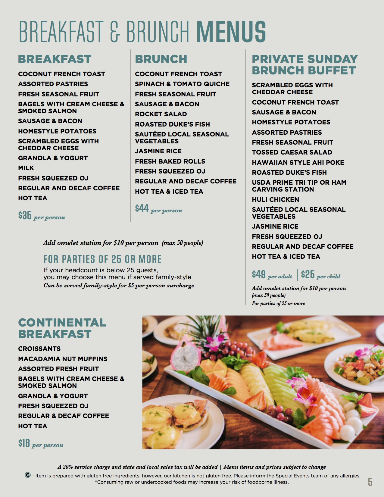 Banquet Breakfast & Brunch Menus