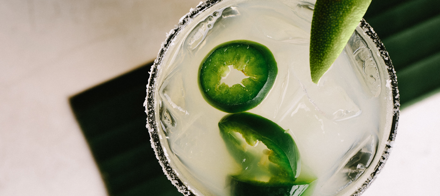 Jalapeno and lime beverage