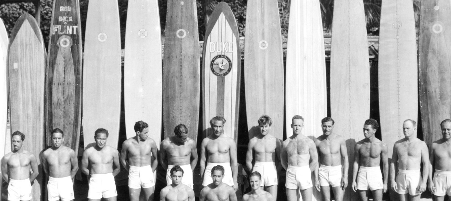 Duke's surfers lined up
